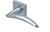 scoop edelstahl türdrücker form 1062 in edelstahl matt auf quadratrosette