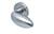scoop edelstahl türdrücker form 1066 in edelstahl matt auf rundrosette