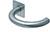 scoop flache lösungen türdrücker form 1070 in edelstahl matt auf flacher quadratrosette