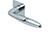 scoop flache lösungen türdrücker form 1083 in edelstahl poliert auf flacher quadratrosette