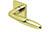 scoop edelstahl türdrücker form 1083 in pvd messinggelb auf quadratrosette