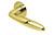 scoop flache lösungen türdrücker form 1083 in pvd messinggelb auf flacher rundrosette