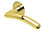 scoop flache lösungen türdrücker form 1084 in pvd messinggelb auf flacher rundrosette