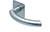 scoop flache lösungen türdrücker form 1085 in edelstahl matt auf flacher quadratrosette