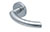 scoop edelstahl türdrücker form 1085 in edelstahl matt auf rundrosette
