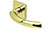 scoop edelstahl türdrücker form 1085 in pvd messinggelb auf quadratrosette