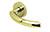 scoop pullbloc 3.0 türdrücker form 1085 in pvd messinggelb auf rundrosette
