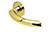 scoop flache lösungen türdrücker form 1085 in pvd messinggelb auf flacher rundrosette