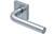 scoop pullbloc 3.0 türdrücker form 1100 in edelstahl matt auf quadratrosette