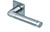 scoop flache lösungen türdrücker form 1101 in edelstahl matt auf flacher quadratrosette