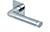 scoop flache lösungen türdrücker form 1101 in edelstahl poliert auf flacher quadratrosette