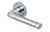 scoop pullbloc 3.0 türdrücker form 1101 in edelstahl poliert auf rundrosette