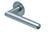 scoop flache lösungen türdrücker form 1107 in edelstahl matt auf flacher rundrosette