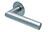 scoop flache lösungen türdrücker form 1108 in edelstahl matt auf flacher rundrosette