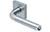 scoop pullbloc 3.0 türdrücker form 1173 in edelstahl matt auf quadratrosette