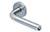 scoop pullbloc 3.0 türdrücker form 1173 in edelstahl matt auf rundrosette