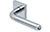 scoop edelstahl türdrücker form 1173 in edelstahl poliert auf quadratrosette