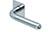 scoop flache lösungen türdrücker form 1173 in edelstahl poliert auf flacher quadratrosette
