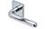 scoop pullbloc 3.0 türdrücker form 1200 in edelstahl poliert auf quadratrosette