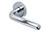 scoop pullbloc 3.0 türdrücker form 1200 in edelstahl poliert auf rundrosette