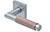 scoop pullbloc 3.0 türdrücker form 1X74 in edelstahl matt auf quadratrosette