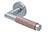 scoop pullbloc 3.0 türdrücker form 1X74 in edelstahl matt auf rundrosette
