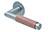 scoop flache lösungen türdrücker form 1X74 in edelstahl matt auf flacher rundrosette