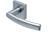 scoop pullbloc 4.1 türdrücker form 1003 in edelstahl matt auf quadratrosette