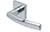 scoop pullbloc 4.1 türdrücker form 1003 in edelstahl poliert auf quadratrosette