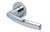 scoop pullbloc 4.1 türdrücker form 1003 in edelstahl poliert auf rundrosette
