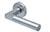scoop pullbloc 4.1 türdrücker form 1016 in edelstahl matt auf rundrosette