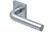 scoop pullbloc 4.1 türdrücker form 2100 in edelstahl matt auf quadratrosette