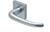 scoop pullbloc 4.1 türdrücker form 1103 in edelstahl matt auf quadratrosette