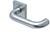 scoop pullbloc 4.1 türdrücker form 2104 in edelstahl matt auf quadratrosette