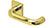 scoop edelstahl türdrücker form 2904 in pvd messinggelb auf quadratrosette