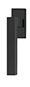 scoop formspiele fenstergriffe form 8040 in black satin auf eckiger rosette
