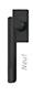 scoop formspiele fenstergriffe form 8050 in black satin auf eckiger rosette