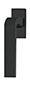 scoop formspiele fenstergriffe form 8077 in black satin auf eckiger rosette