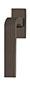 scoop formspiele fenstergriffe form 8077 in titanium matt auf eckiger rosette
