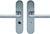 scoop sicherheit tresor 2 drücker und drücker schildgarnitur in edelstahl matt mit kernziehschutz