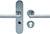 scoop sicherheit tresor 2 drücker und pz halbgarnitur in edelstahl matt mit kernziehschutz
