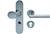 scoop sicherheit tresor griffknopf und pz halbgarnitur in edelstahl matt mit kernziehschutz