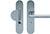 scoop sicherheit einbruchhemmend griffplatte und drücker schildgarnitur in edelstahl matt mit kernziehschutz