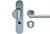 scoop sicherheit tresor griffplatte und pz halbgarnitur in edelstahl matt mit kernziehschutz