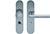 scoop sicherheit einbruchhemmend zylindrischer knopf und drücker schildgarnitur in edelstahl matt mit kernziehschutz