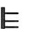 scoop formspiele türbänder 2-teilig in black satin