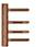 scoop formspiele türbänder 3-teilig in pvd kupfer matt