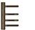 scoop formspiele türbänder 3-teilig in titanium matt