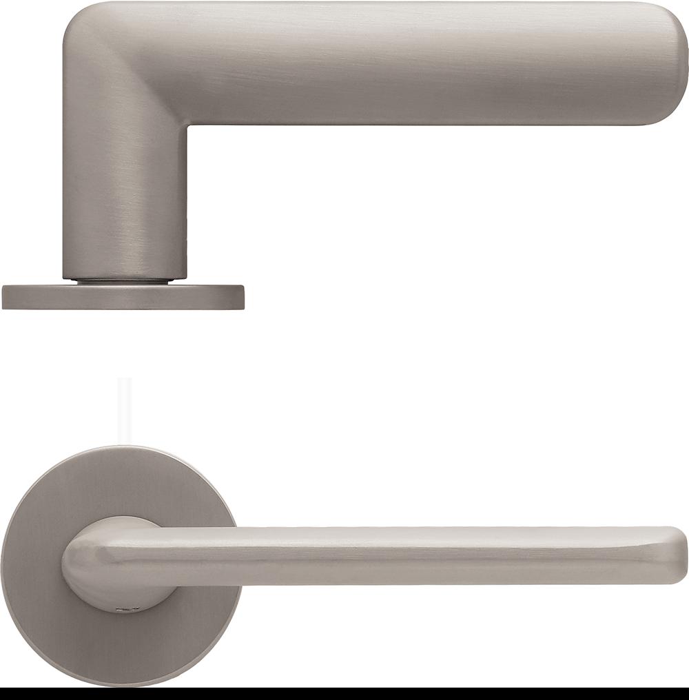 scoop formspiele türdrücker nickel aus der sicht von oben und von vorne